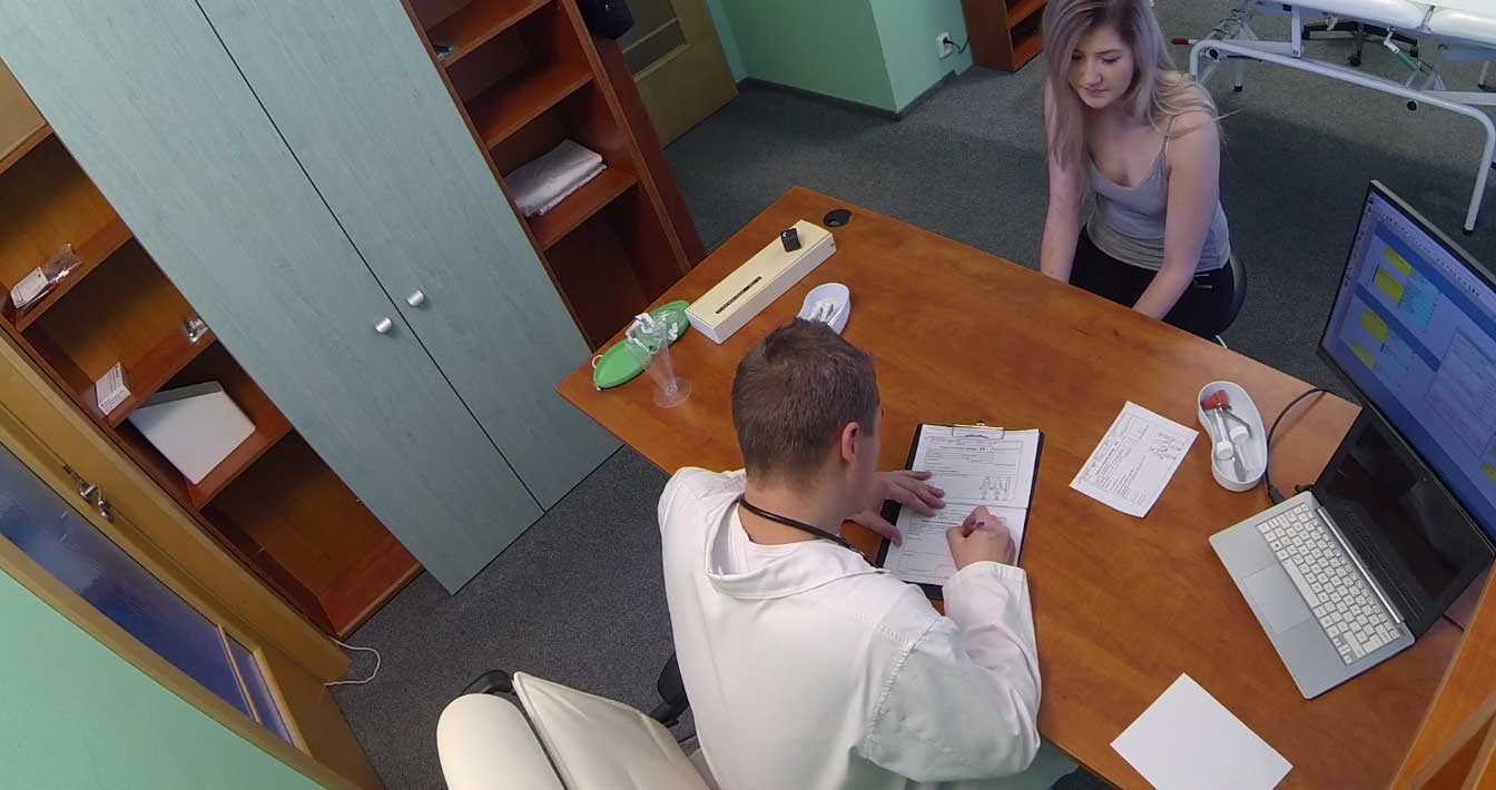 Lee Anne - Kazakh Chick Busts Doctors Bollocks