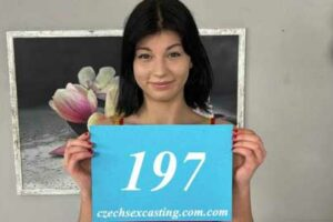 It might be the first time this amazing Czech Nessie Blue 197 darling shoots a porn casting but she surely knows her way around hard cock.